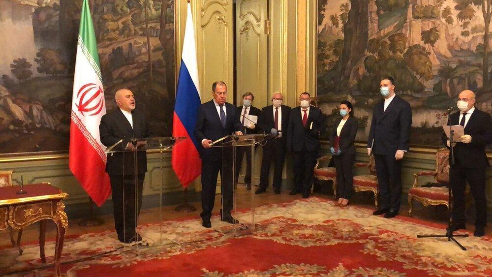 ظریف در کنفرانس خبری با لاوروف آژانس را تهدید کرد