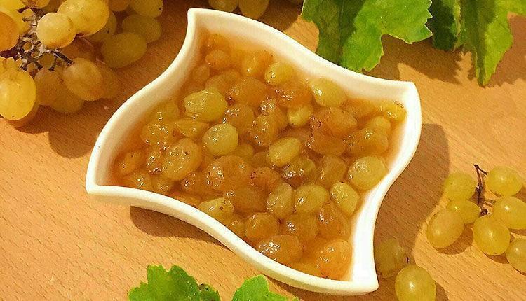 طرز تهیه ترشی انگور سفید خوشمزه ساده و با دوشاب